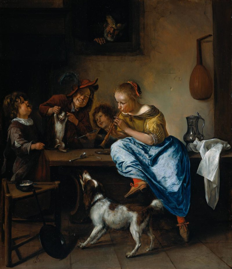The Dancing Lesson | Jan Steen | oil painting