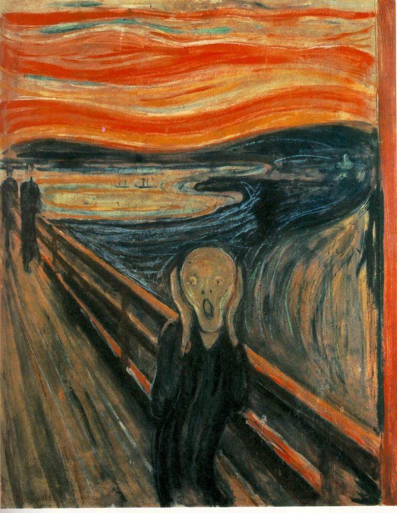 The Scream(The Cry) - Der Schrei der Natur   Ocean's Bridge Artist   oil painting