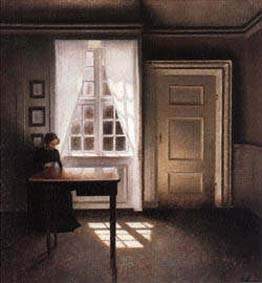 Interior With a Sewing Machine | Vilhelm Hammershoi | oil painting
