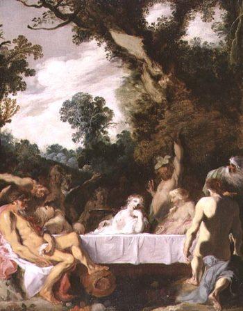 A Bacchanalian Feast 1617 | Johann Liss | oil painting