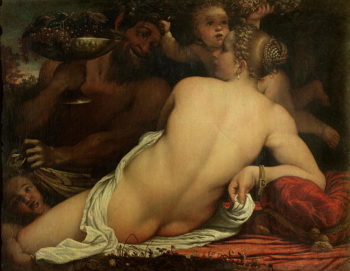 A Bacchante | Annibale Carracci | oil painting