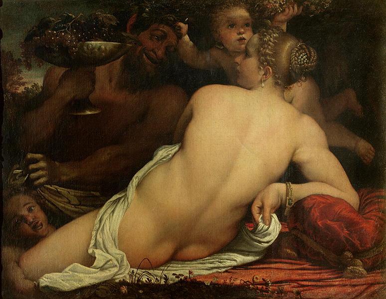 A Bacchante | Annibale Carracci | oil painting