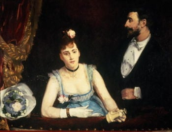 A Box at the Italians' Theatre 1874 | Eva Gonzales | oil painting