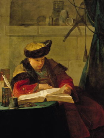 A Chemist in his Laborator | Jean Baptiste Simeon Chardin | oil painting