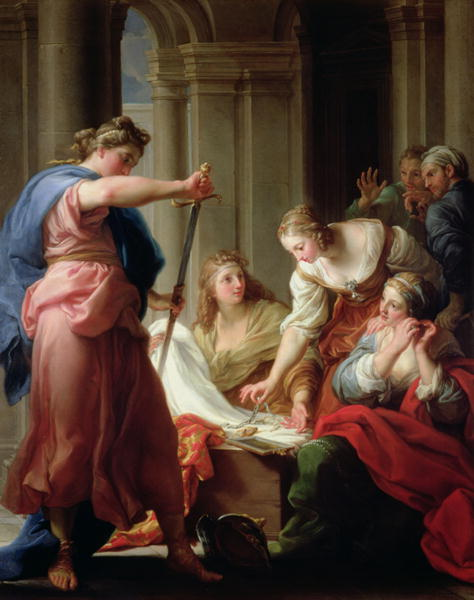 Achilles at the Court of King Lycomedes with his Daughters 1746 | Pompeo Girolamo Batoni | oil painting