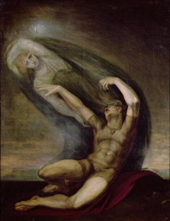 Achilles Searching for the Shade of Patrocles 1803 | Henry Fuseli | oil painting