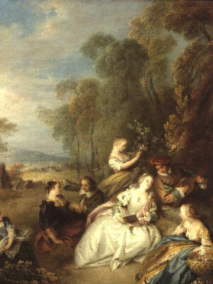 A Concert 1730s   Jean Baptiste Joseph Pater   oil painting