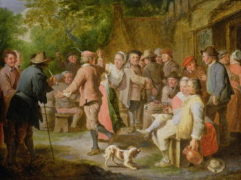 A Country Fete with Figures Dancing | Pierre Angelis or Angillis | oil painting