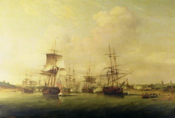 Action off the coast of France 13th May 1779 | Thomas Luny | oil painting