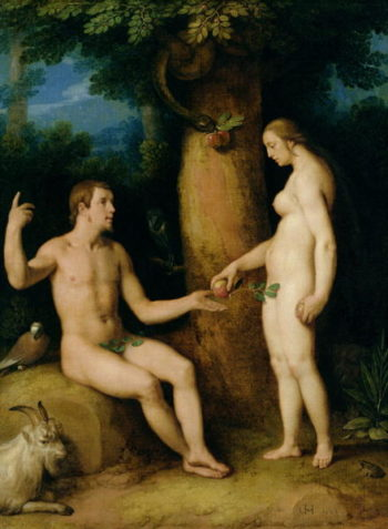 Adam and Eve 1622 | Cornelis Cornelisz van Haarlem | oil painting