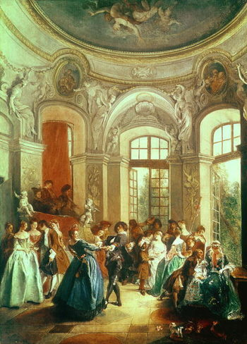A Dance in the Summer House | Nicolas Lancret | oil painting