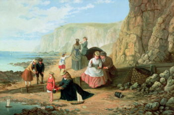 A Day at the Seaside | William Scott | oil painting