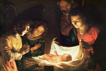 Adoration of the baby 1620 | Gerrit van Honthorst | oil painting