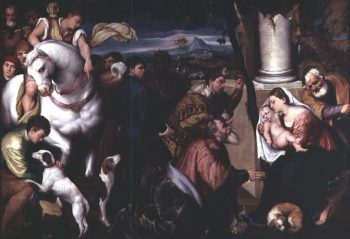 Adoration of the Kings   Jacopo Bassano   oil painting