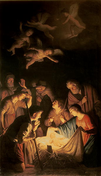 Adoration of the Shepherds 1617 | Gerrit van Honthorst | oil painting