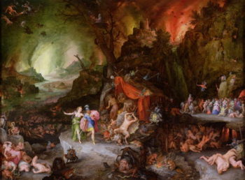 Aeneas and the Sibyl in the Underworld 1598 | Jan the Elder Brueghel | oil painting