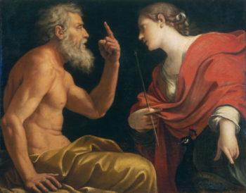 Aeolus and Juno | Lucio Massari | oil painting
