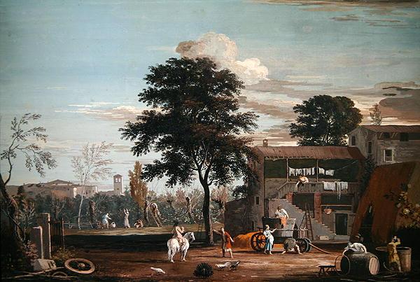 A Farm in the Veneto | Marco Ricci | oil painting