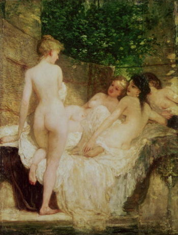 After the Bath 1880 | Karoly Lotz | oil painting