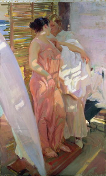 After the Bath 1916 | Joaquin Sorolla y Bastida | oil painting