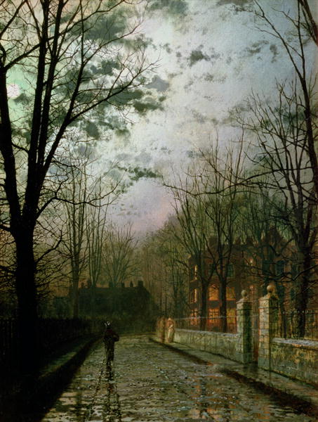 After the Shower   John Atkinson Grimshaw   oil painting