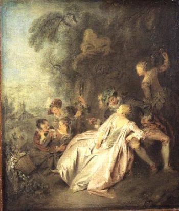 A Gallant Conversation 1728 30 | Jean Baptiste Joseph Pater | oil painting