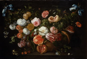 A Garland of Flowers | Jan Davidsz de Heem | oil painting