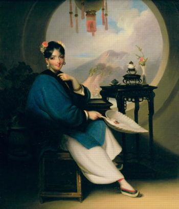 A Geisha Girl | George Chinnery | oil painting