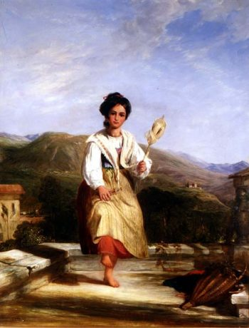 A Girl of Sorrento | William Collins | oil painting