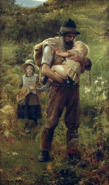 A Heavy Burden | Arthur Hacker | oil painting