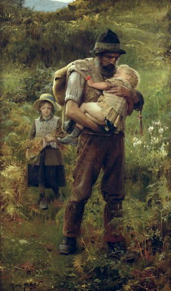 A Heavy Burden | Arthur Hacker | oil painting