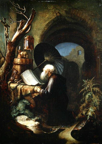 A Hermit at Prayer | Gerrit Dou | oil painting