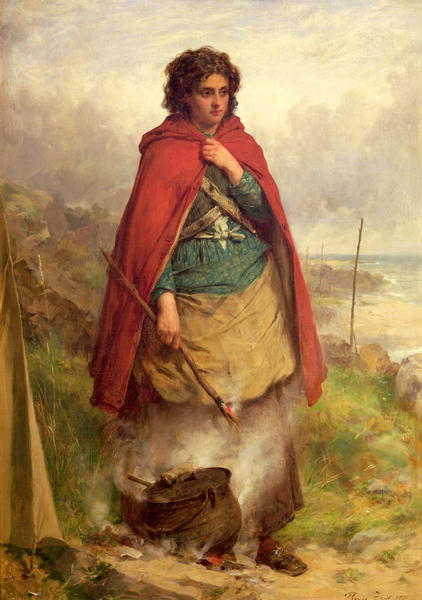 A Highland Gypsy 1870 | Thomas Faed | oil painting