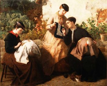 A Honiton Lace Manufactory 1869 | Frederick Richard Pickersgill | oil painting