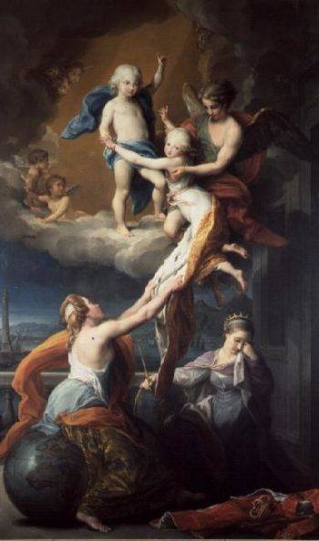 Allegory of the death of the children of Ferdinand IV | Pompeo Girolamo Batoni | oil painting