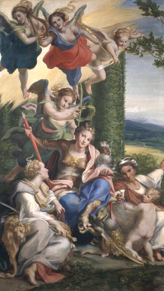 Allegory of the Virtues 1529 30 | Correggio | oil painting