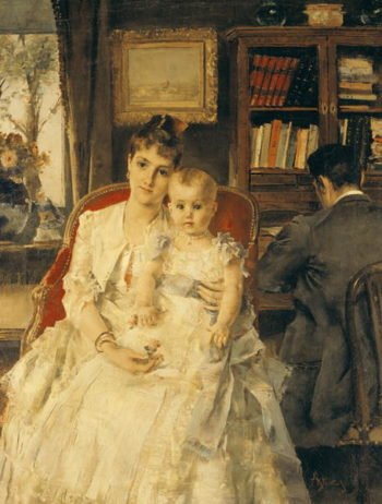 All Happiness   Alfred Emile Stevens   oil painting