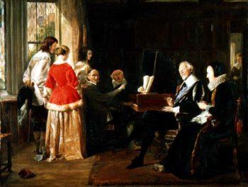 A Madrigal | John Callcott Horsley | oil painting