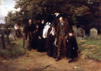 Resurrection and the Life or The Village Funeral 1872 | Frank Holl | oil painting