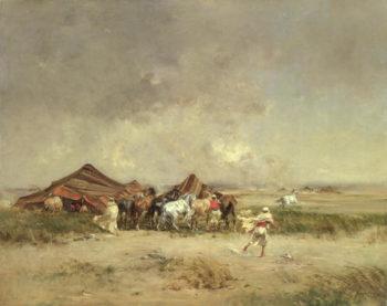 Arab Encampment 1872 | Victor Pierre Huguet | oil painting