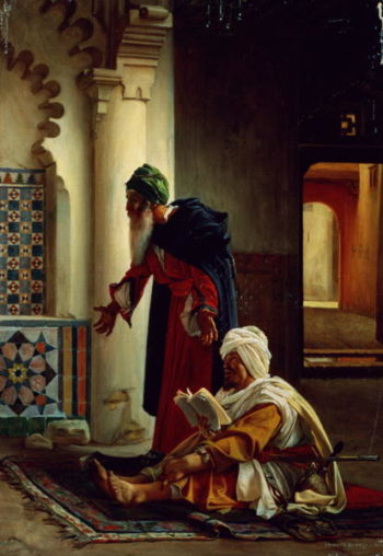 Arabs at Prayer   Jean Jules Antoine Lecomte du Nouy   oil painting