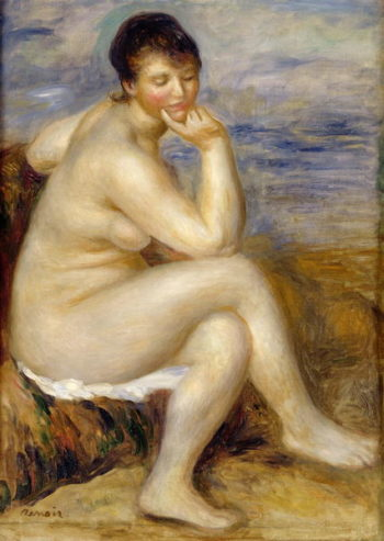 Bather Seated on a Rock 1882 | Pierre Auguste Renoir | oil painting