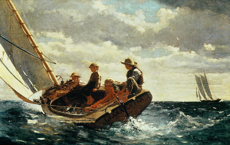 Breezing Up | Winslow Homer | oil painting