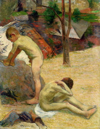 Breton Boys Bathing 1888 | Paul Gauguin | oil painting