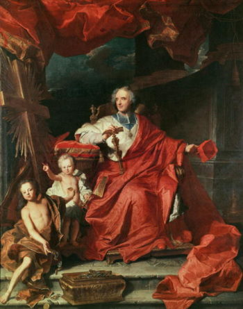 Cardinal de Bouillon | Hyacinthe Rigaud | oil painting