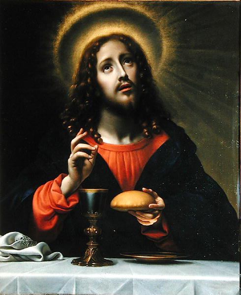 Christ Blessing the Sacraments | Carlo Dolci | oil painting