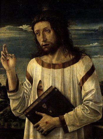 Christ Blessing | Giovanni Bellini | oil painting