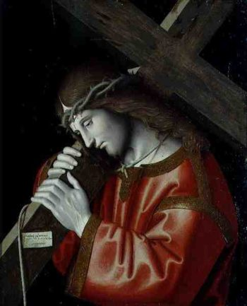 Christ Carrying His Cross 1535 | Marco Palmezzano | oil painting