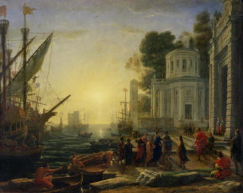 Cleopatra Disembarking at Tarsus 1642 | Claude Lorrain | oil painting