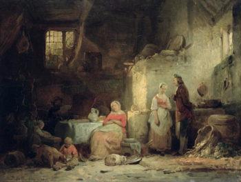 Conversation after the Meal 1840 | Ferdinand de Braekeleer | oil painting
